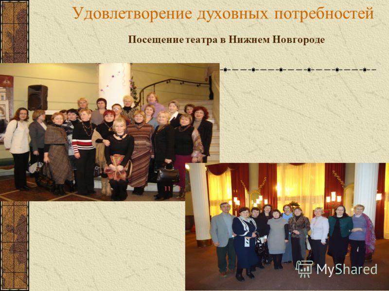 Посещение театра в Нижнем Новгороде Удовлетворение духовных потребностей