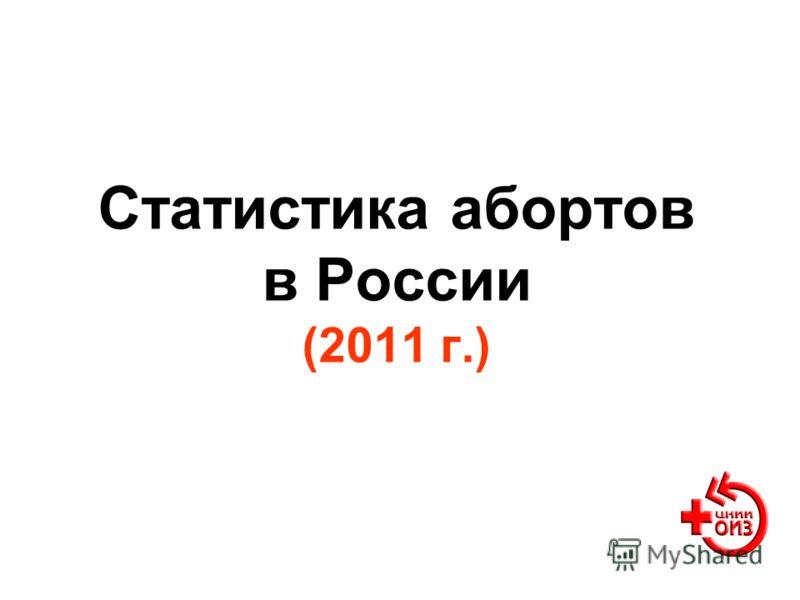 Статистика абортов в России (2011 г.)