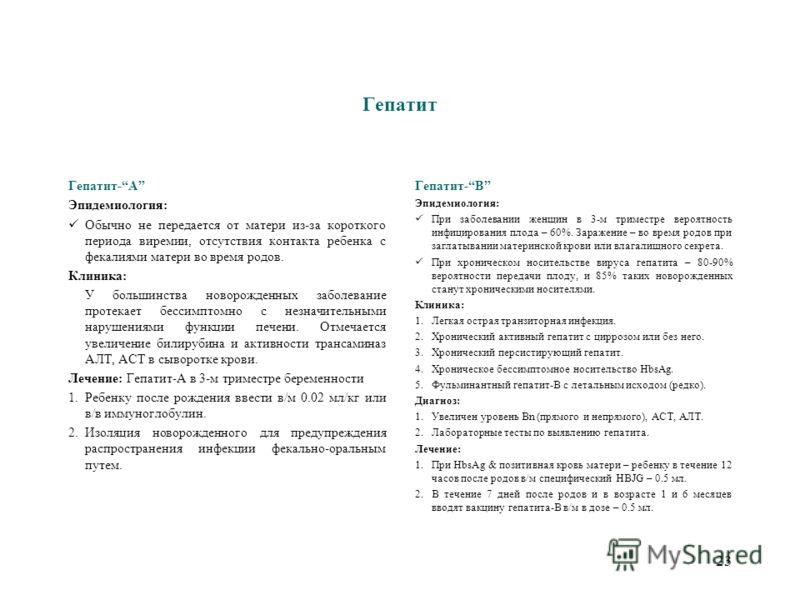 22 Сифилис Лихорадка, гемолитическая анемия, неврологические нарушения, генерализованная лимфоаденопатия, поражения кожи: вендикулезные, буллезные или макулезно-накулезные, лимфоцитоз, периостит, остеохондрит (метафицит, остеомиелит). Лечение: 1.Клис