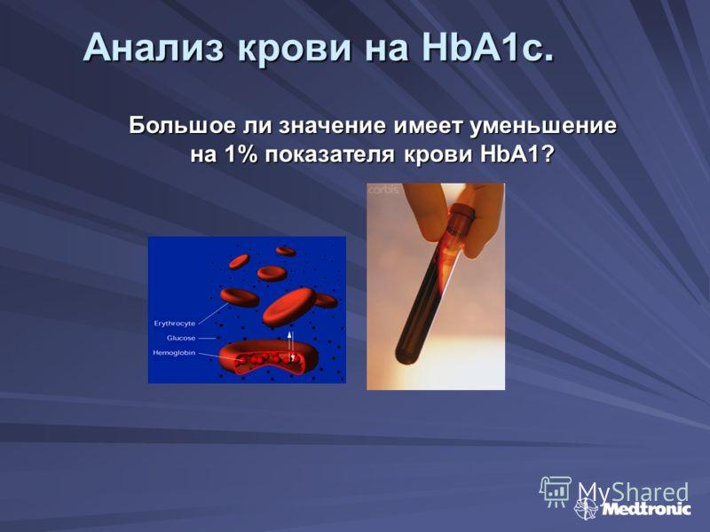 Анализ крови на HbA1c. Большое ли значение имеет уменьшение на 1% показателя крови HbA1?