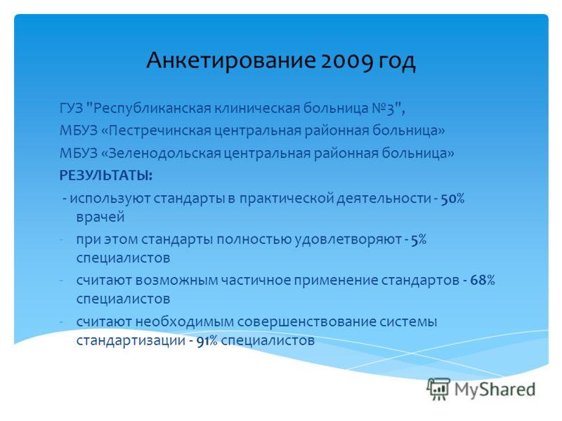 Анкетирование 2009 год ГУЗ