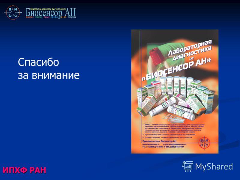 Спасибо за внимание ИПХФ РАН