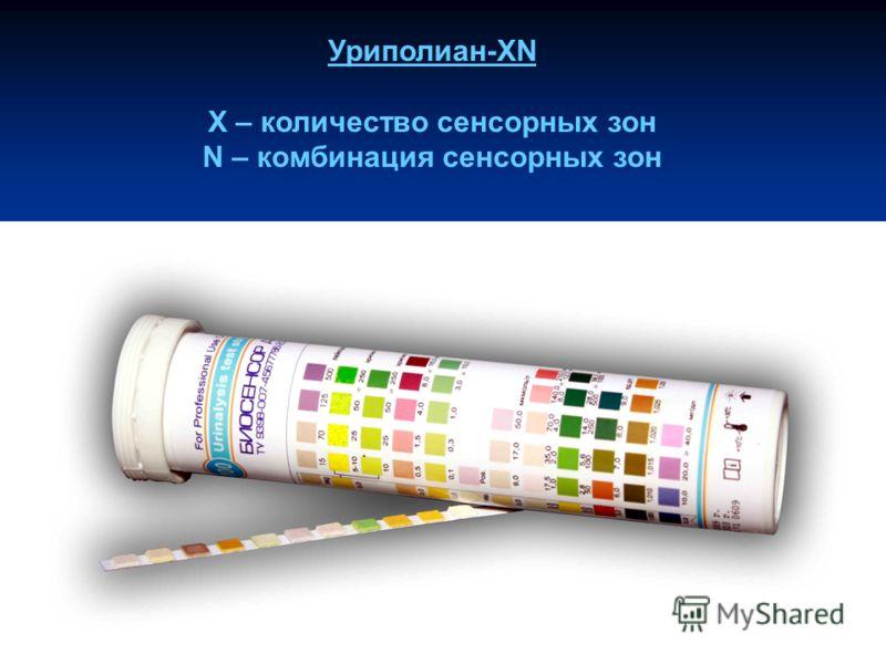 Уриполиан-XN X – количество сенсорных зон N – комбинация сенсорных зон