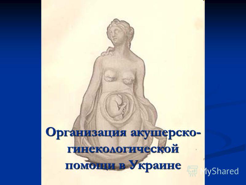 Организация акушерско- гинекологической помощи в Украине