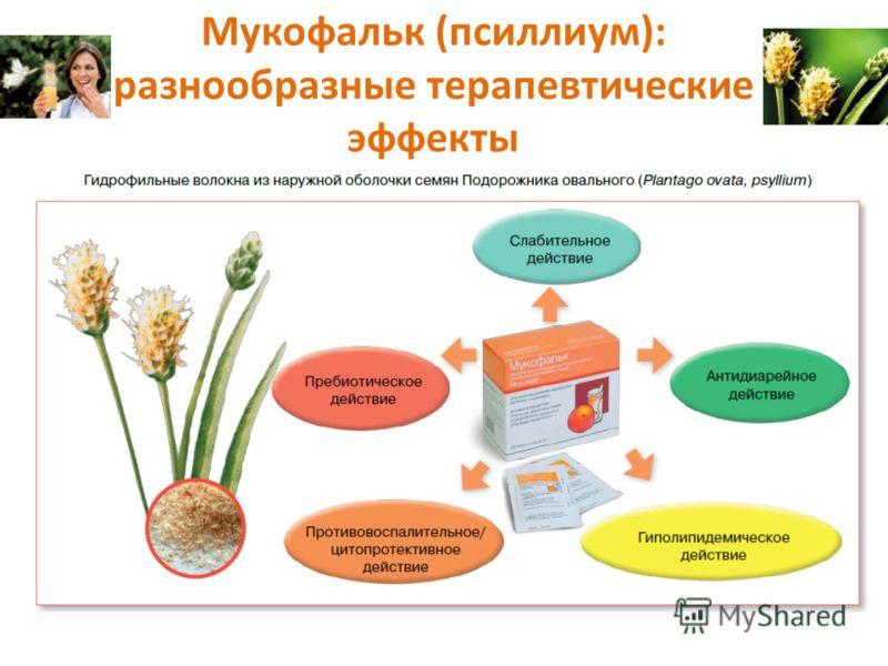 Мукофальк (псиллиум): разнообразные терапевтические эффекты