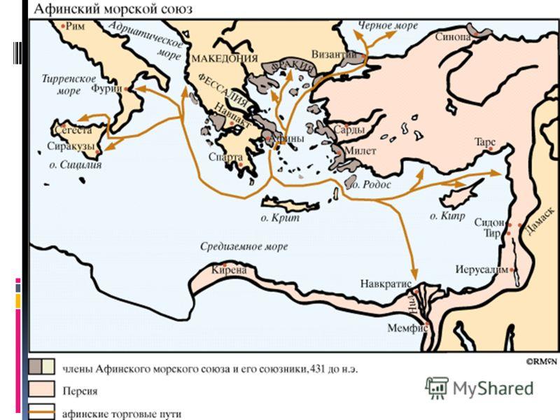 Вспомним!!! После Саламинской битвы на море, война с персами близилась к концу. 449 году до н.э Окончательно греко-персидские войны закончились в 449 году до н.э. продолжал действовать Афинский морской союз Но после войны продолжал действовать Афинск