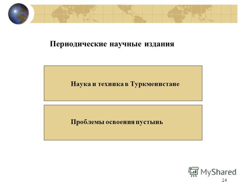 24 Периодические научные издания Наука и техника в Туркменистане Проблемы освоения пустынь