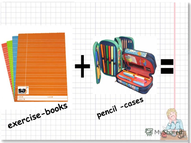 exercise-books pencil -cases