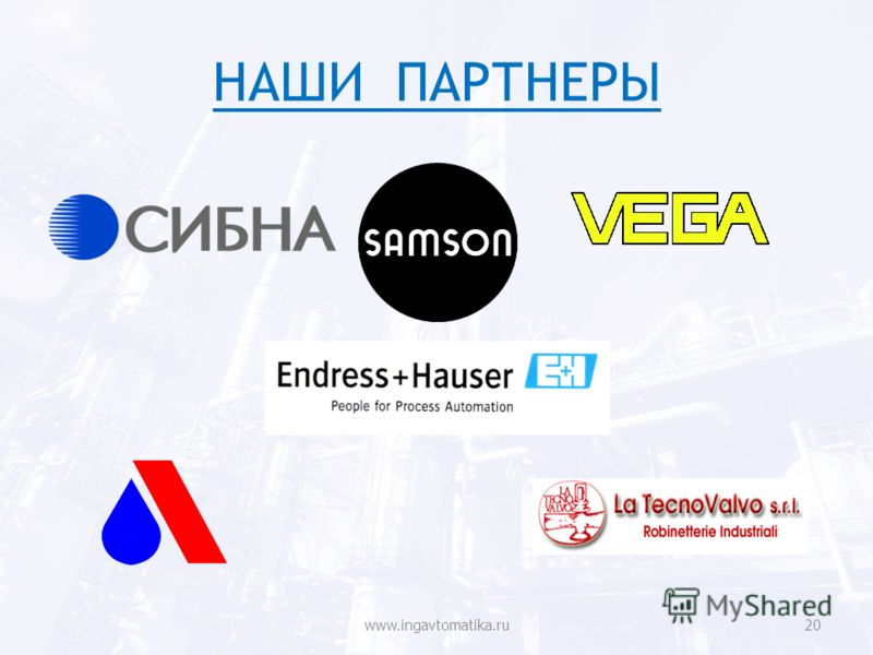 НАШИ ПАРТНЕРЫ www.ingavtomatika.ru20