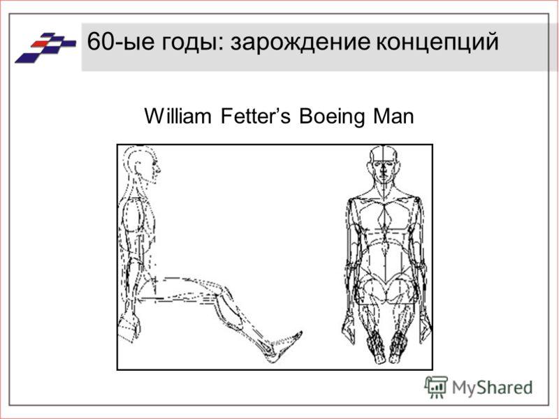 60-ые годы: зарождение концепций William Fetters Boeing Man