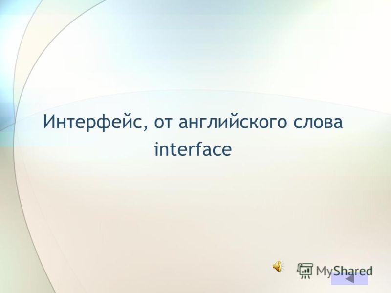 Какой компьютерный термин английского происхождения при дословном переводе означает «междумордие»? ОТВЕТ