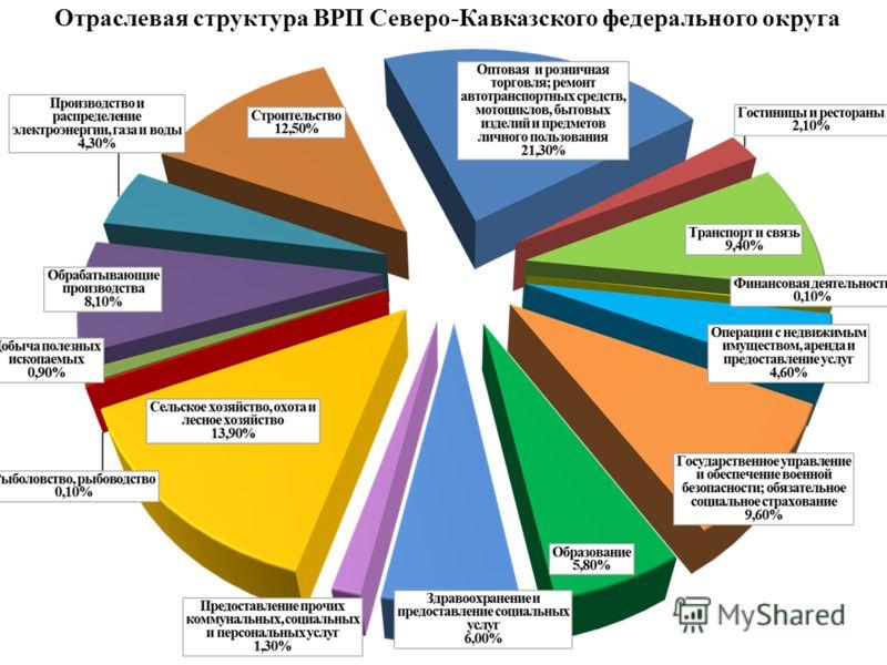 Отраслевая структура ВРП Северо-Кавказского федерального округа