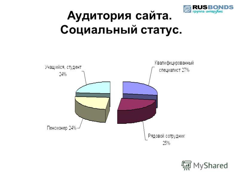 Аудитория сайта. Социальный статус.