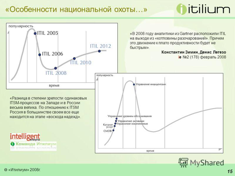 «Итилиум» 2008г. 14 Особенности национальной охоты - использование ITIL России.