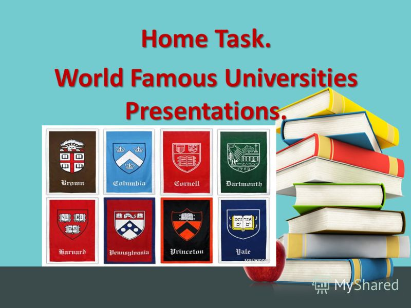 Home Task. World Famous Universities Presentations.