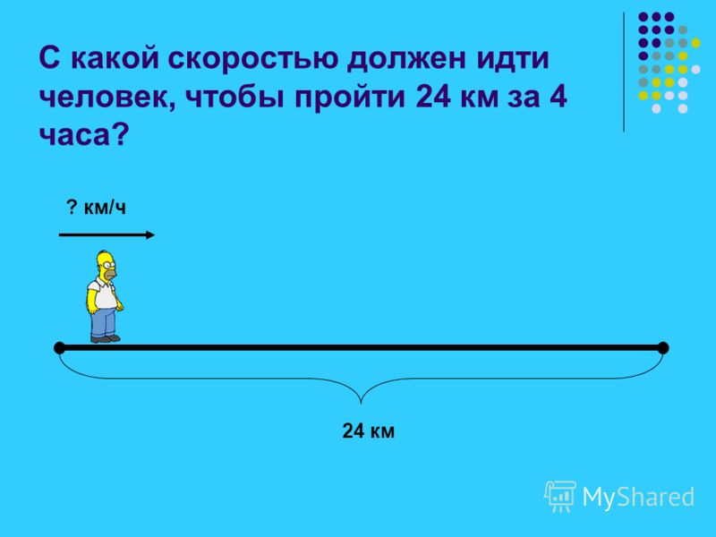Автомобиль движется со скоростью 60 км/ч. За какое время он пройдёт путь в 600 км? 60 км/ч 600 км