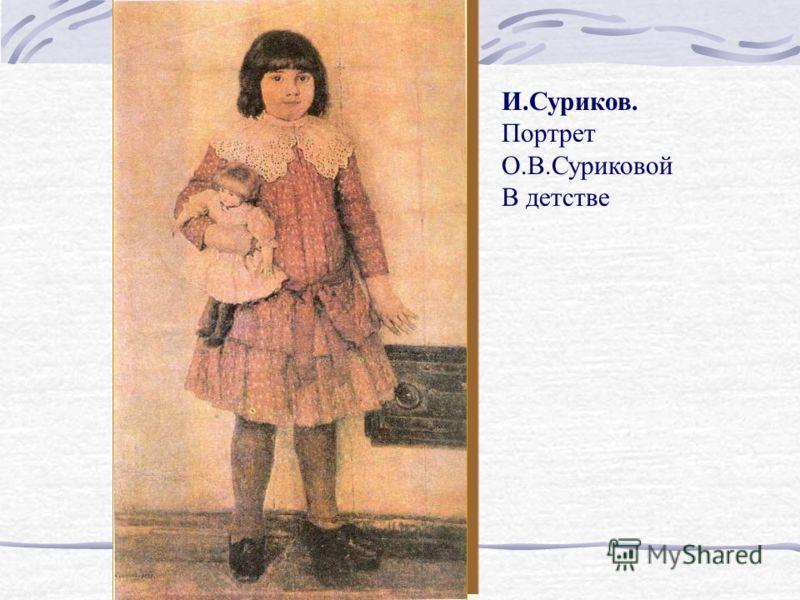 И.Суриков. Портрет О.В.Суриковой В детстве