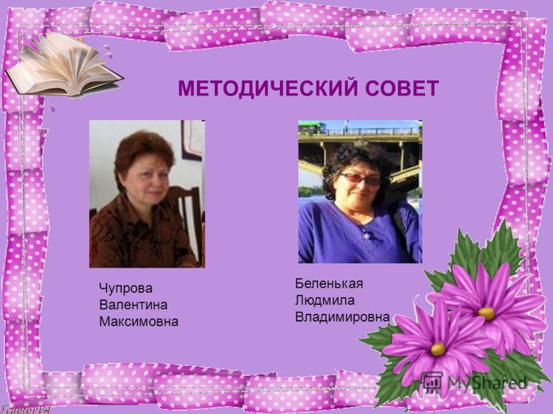 МЕТОДИЧЕСКИЙ СОВЕТ Чупрова Валентина Максимовна Беленькая Людмила Владимировна