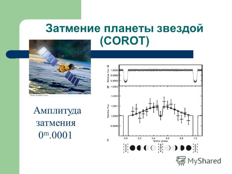 Затмение планеты звездой (COROT) Амплитуда затмения 0 m.0001