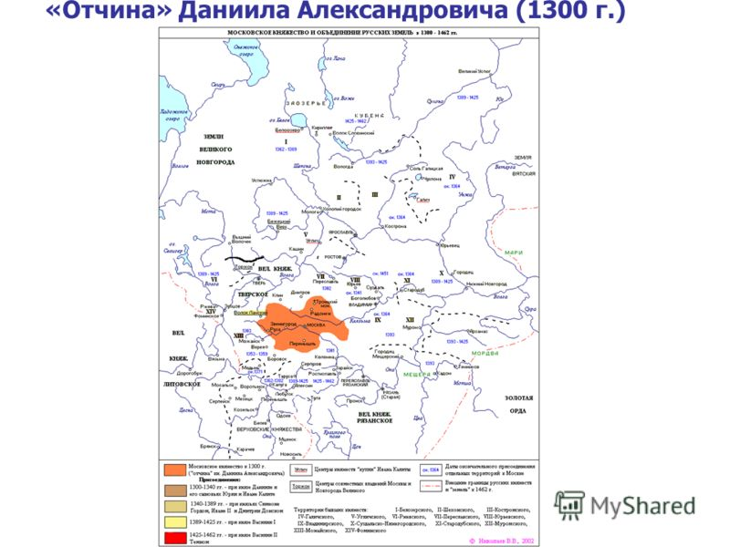 «Отчина» Даниила Александровича (1300 г.)