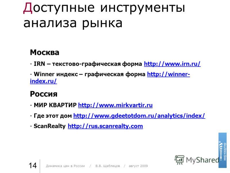 Доступные инструменты анализа рынка Практика стиля / И. О. Фамилия 14 Москва - IRN – текстово-графическая форма http://www.irn.ru/http://www.irn.ru/ - Winner индекс – графическая форма http://winner- index.ru/http://winner- index.ru/ Россия - МИР КВА
