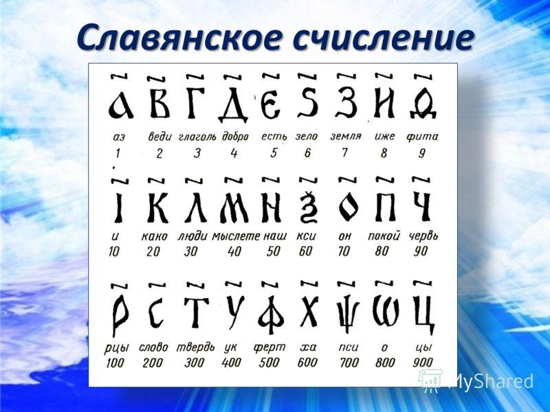 Славянское счисление
