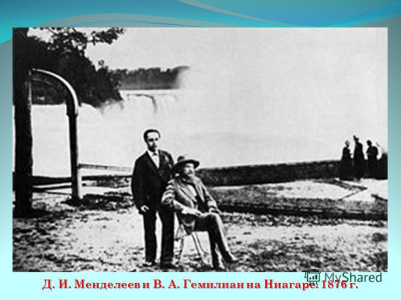 Д. И. Менделеев и В. А. Гемилиан на Ниагаре. 1876 г.