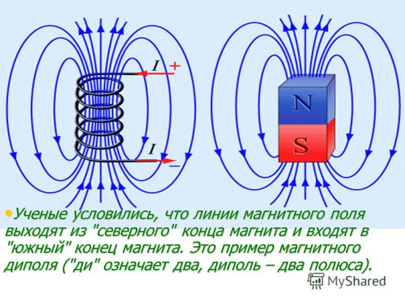 Ученые условились, что линии магнитного поля выходят из