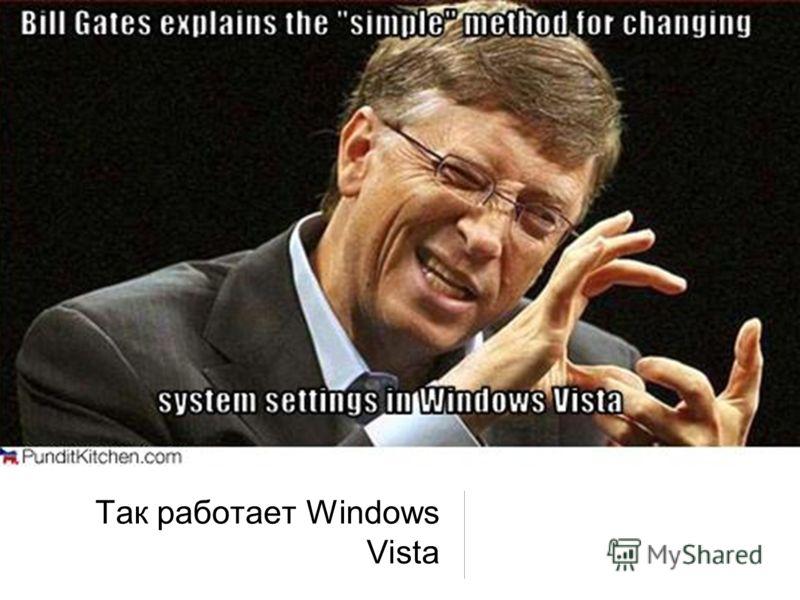 Так работает Windows Vista