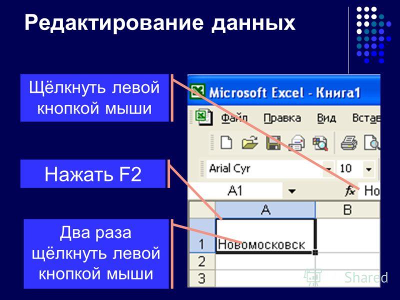 Ввод текста Набрать текст и нажать Enter или кнопку