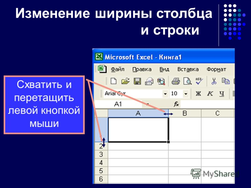 Элементы программы Рабочий лист представляет собой таблицу, состоящую из 256 столбцов и 65536 строк. Столбцы (по умолчанию) именуются латинскими буквами, а строки – цифрами. На пересечении столбца и строки находится ячейка. Каждая ячейка таблицы имее