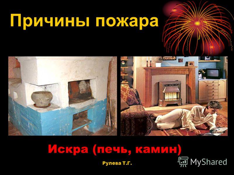 Искра (печь, камин) Причины пожара Рулева Т.Г.