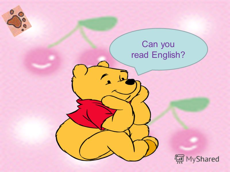 Can you read English?