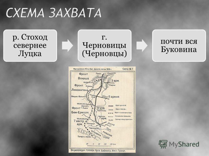 р. Стоход севернее Луцка г. Черновицы (Черновцы) почти вся Буковина