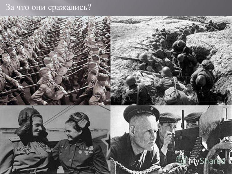 За что они сражались ?