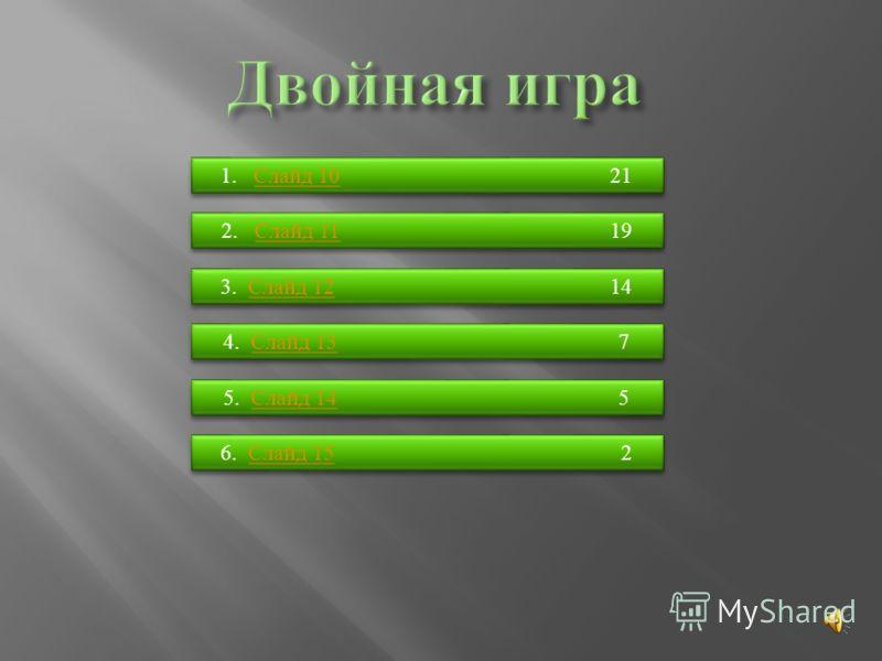 1. Слайд 10 21Слайд 10 1. Слайд 10 21Слайд 10 2. Слайд 11 19Слайд 11 2. Слайд 11 19Слайд 11 3. Слайд 12 14Слайд 12 3. Слайд 12 14Слайд 12 4. Слайд 13 7Слайд 13 4. Слайд 13 7Слайд 13 5. Слайд 14 5Слайд 14 5. Слайд 14 5Слайд 14 6. Слайд 15 2Слайд 15 6.