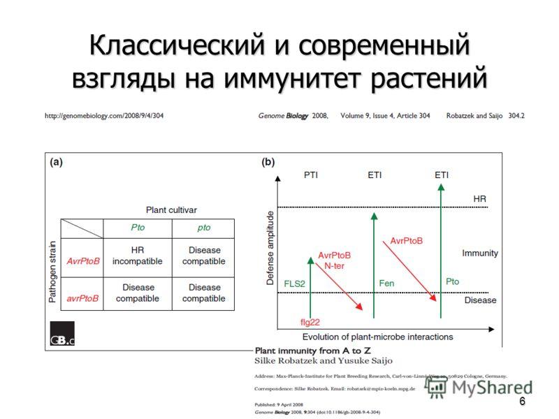 Классический и современный взгляды на иммунитет растений 6