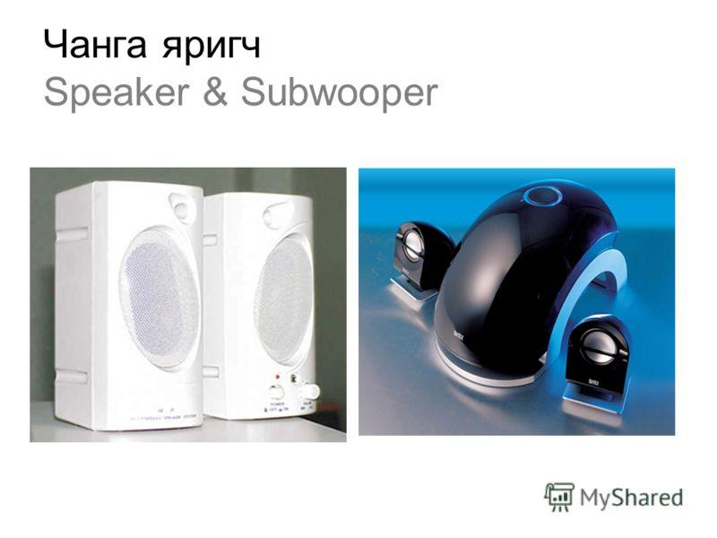 Чанга яригч Speaker & Subwooper