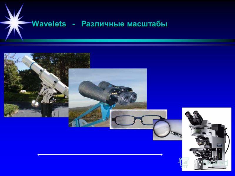 Wavelets - Различные масштабы