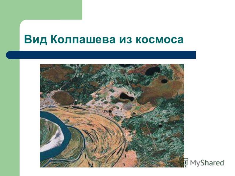 Вид Колпашева из космоса