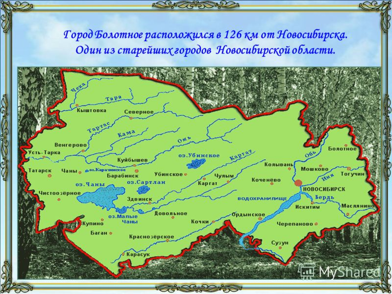 Город Болотное расположился в 126 км от Новосибирска. Один из старейших городов Новосибирской области.
