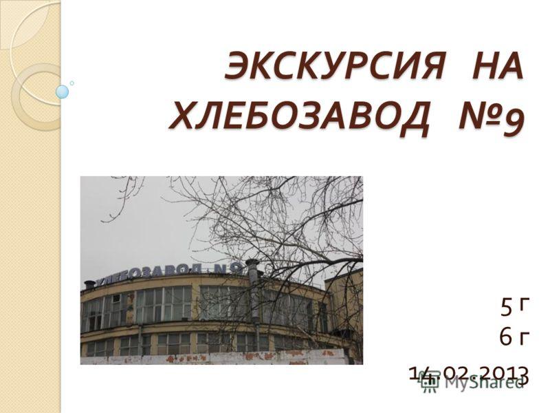 ЭКСКУРСИЯ НА ХЛЕБОЗАВОД 9 5 г 6 г 14.02.2013
