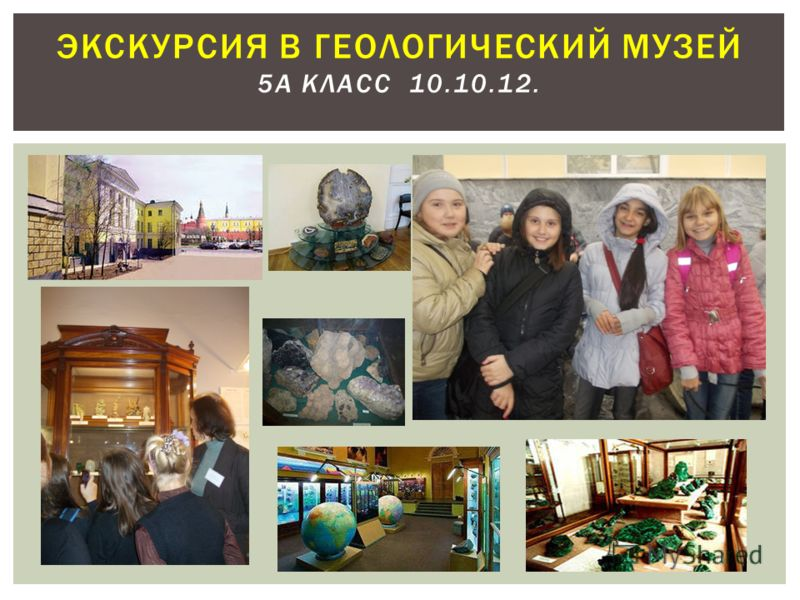 ЭКСКУРСИЯ В ГЕОЛОГИЧЕСКИЙ МУЗЕЙ 5А КЛАСС 10.10.12.