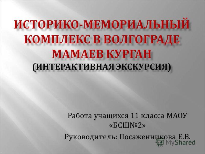 Работа учащихся 11 класса МАОУ « БСШ 2» Руководитель : Посаженникова Е. В.