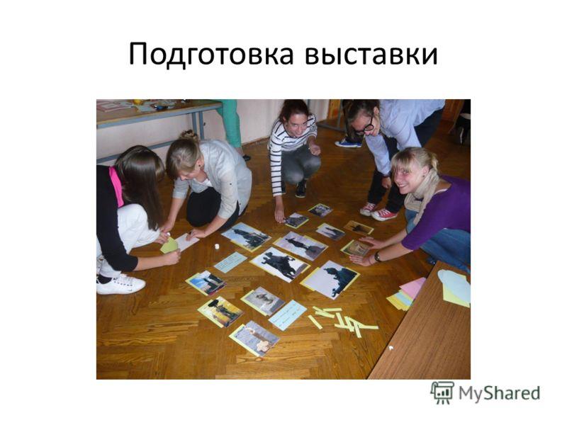 Подготовка выставки