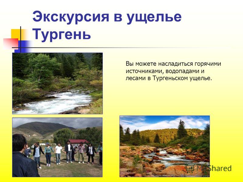 Экскурсия в ущелье Тургень Вы можете насладиться горячими источниками, водопадами и лесами в Тургеньском ущелье.