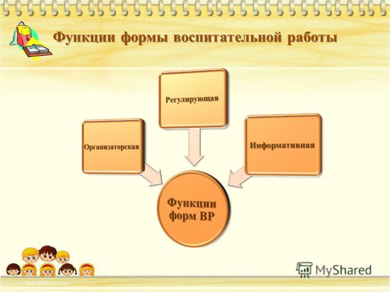 Функции формы воспитательной работы
