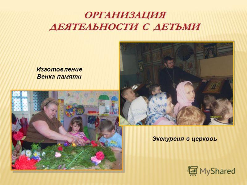 ОРГАНИЗАЦИЯ ДЕЯТЕЛЬНОСТИ С ДЕТЬМИ Изготовление Венка памяти Экскурсия в церковь