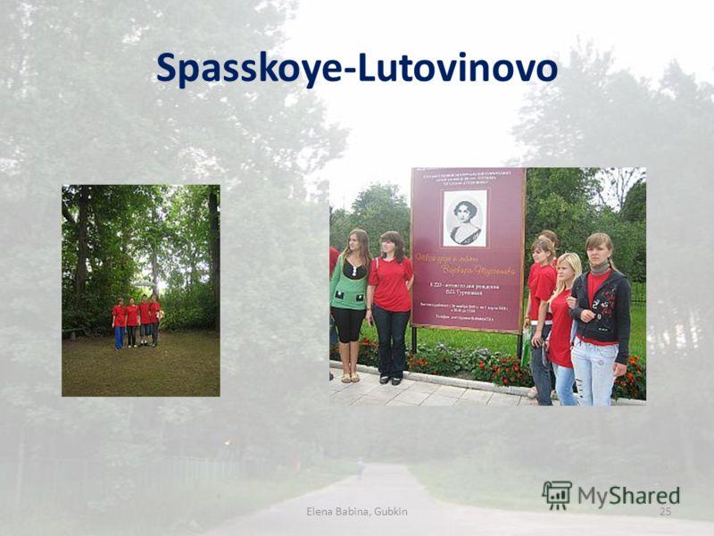 Spasskoye-Lutovinovo Elena Babina, Gubkin25