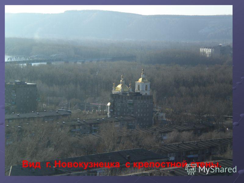 Вид г. Новокузнецка с крепостной стены.